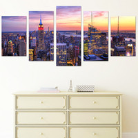 Wholesale contemporary homes pictures - City Center PVC Print Contemporary Wall Art Decor For Home Decoration None-Frame Home Decor Painting
