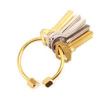 Haltbares D Form Messing Schlüsselanhänger Schlüsselring  Werkzeug