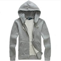 Wholesale Hood Men S Hoodies Cardigan - Free shipping 2017 new Hot sale Mens polo Brand Hoodies and Sweatshirts autumn winter casual with a hood sport jacket men's hoodies
