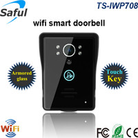 Wholesale touch bell online - Saful New Smart WiFi video intercom for Android ios APP wireless touch video door phone for home bell with night vision
