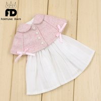 Wholesale normal doll resale online - Suitable for doll normal doll joint icy jecci five licca body pink sweet cloak and white dress