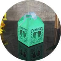 laser corte coração formas venda por atacado-30 pcs corte a laser projeto da forma do coração caixa de doces caixa de presente caixa de doces de Halloween decorações da festa de casamento do casamento como 5ZT11