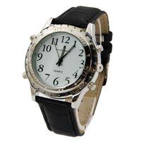 konuşan saatler toptan satış-2017 Yüksek Kaliteli İngilizce Konuşan Saat Kör Veya Görme Engelliler Için İzle Paslanmaz Çelik Reloj Hombre