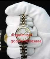 montres mattes achat en gros de-Vente chaude De Luxe NOUVEAU Mid-Size 31mm 18Kt Or Blanc Inoxydable Matte-79173 Automatique Dames Femmes Montres