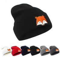 Adult Fox Soft Knitted Winter Warm Hat Beanie Cap Skull Caps Winter Knit  Slouchy Crochet Hats Fashion Outdoor Hats KKA3941 17ecc3c28b7d