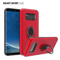 Wholesale cellphone car case for sale – best 360 Ring Car Holder Magnetic Cellphone Cover for Samsung Galaxy S8 S8 plus S7 S7 edge Armor Hybrid Silicone Shockproof Case