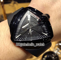 Wholesale Luxury Pvd Mens - Best Edition 46mm H24615331 Ventura XXL A2824 Automatic Black Mesh Dial PVD Mens Watch Rubber Strap Luxury Brand Cheap New Wristwatches