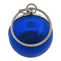 Wholesale handbag clutch for party for sale - Group buy 2018 Fashion evening bags women designer handbags luxury blue brand handbag ball shape women bag clutch bags for party