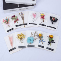 lehrer tag blumen großhandel-2018 New Valentinstag Geschenkkarte Mini Bouquets Teachers 'Day Gift Kreative Valentinstag Trockenblumen Dreidimensionale Karten