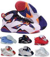 Wholesale Fabrics China - Cheap Air 7 Basketball Shoes Men Women Blue Olympic Tinker Alternate Reloj 7s VII UNC Hares Bordeaux Cigar Cardinal China Sports Sneakers