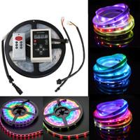 Wholesale magic led strip lights - 5m 6803 IC Dream Magic Color LED Strip 5050 RGB 6803 LED Strip Light Waterproof 133 Magic Dream Color 6803 remote controller