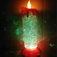 ingrosso detentori della candela di loto-Candela di cristallo colorato Creativo Lotus Shape Calice Candela Candela di colore con cristallo chiaro centrotavola Candeliere con luce