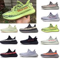 brand new 39d8c 689fc mujer hombre zapatos de marca Adidas Yeezy Boost Sply 350 V2 semi  congelados zapatillas de deporte kanye west Negro Verde rojo blanco cobre  raya de ...