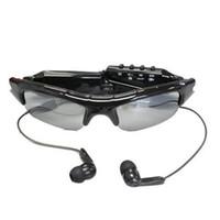 ingrosso occhiali da sole digitali-Mini fotocamera per occhiali da sole con lettore musicale MP3 720 * 480 30fps occhiali da sole per esterni MINI DVR Videoregistratore digitale Occhiali Sicurezza DV