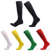 Wholesale hose camping resale online - Free DHL Running Basketball Socks High Stockings Athlete Ribbed Thigh High Tube Hose Football Long Socks For Women Men Style G524S