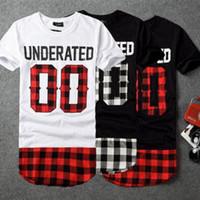 kıyafetler toptan satış-BRSR 2018 UNDERATED Bandana erkek Genişletilmiş Tee Gömlek Erkekler Kaykay Eleman t-shirt Hip Hop tshirt Streetwear Giyim