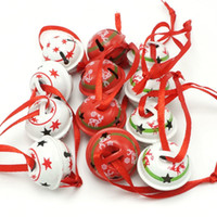 Wholesale small bells free shipping resale online - Christmas decoration types reindeer star metal small jingle bell for home mm merry christmas tree decor Y18102609