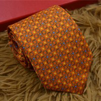 homens vestido profissional venda por atacado-Designer de luxo gravata masculina de gravata designer de desgaste formal dos homens de negócios de seda profissional desgaste suave gravata de seda 7.5 cm caixa de presente vestido