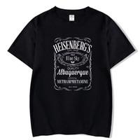 блуза с градиентом цвета оптовых-Мужская высокое качество футболки печатные Breaking Bad Heisenberg письмо футболка хип-хоп блузка мужская спортивная футболка мужчины