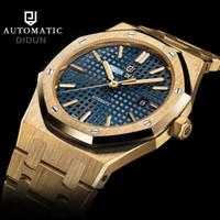 uhren wasserdicht stoßfest großhandel-Didun Uhr Männer Luxus Top-Marke mechanische Uhr Mode Business männlich stoßfest 30m wasserdichte leuchtende Armbanduhr