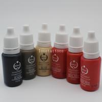 permanente make-up-tinte kits großhandel-5 Stücke biotouch Permanent Makeup Mikropigment Kosmetische Farbe Tattoo Ink Kits Für Permanent Makeup Augenbrauen Lip Tattoo 15 ml
