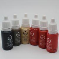 pigmentos de tatuaje biotouch al por mayor-5 Unids biotouch Maquillaje Permanente Micro Pigmento Cosmético Color Kits de Tinta de Tatuaje Para Maquillaje Permanente Ceja Labio Tatuaje 15 ml