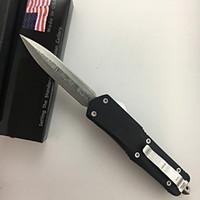 технические подарки оптовых-Micro-tech открытый портативный складные лезвия ножей Дамаск алюминиевого сплава MT05566 BMA07 многофункциональные ножи подарок самообороны