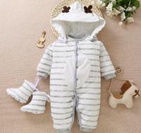neugeborene warme rompers großhandel-Winter neues starkes Baumwollbaby kleidet warme Spielanzüge des neugeborenen Babys Säuglingsoberbekleidung-Weihnachtsgeschenkkinder, die Overalls kleiden