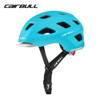 hava kaskları toptan satış-CAIRBULL Aero Bisiklet Kask Erkekler Şehir Bisiklet Ekipmanları Ciclismo Bisiklet Kask ile Arka LED Uyarı Işığı 18 Hava Tahliye