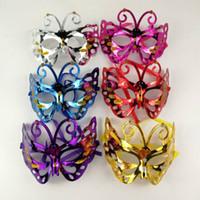 xmas metade da máscara venda por atacado-2018 New Cosplay Party máscara Máscara Facial Halloween crianças adulto Borboleta meia face Máscara Xmas Suprimentos C4879
