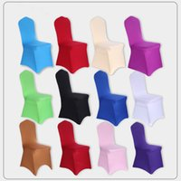 Wholesale Universal Cover Chair - 10 Colors Universal Stretch Polyester Spandex Party Wedding Chair Covers for Weddings Lycra Dining Kitchen Chair Cover