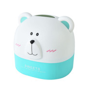Wholesale desktop cute box - Bear Paper Towel Tube Cute Cartoon Roll Paper Tube Cylinder Storage Boxes Desktop Boxes