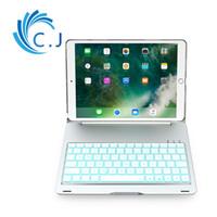 klavye renkleri toptan satış-Ultra İnce taşınabilir Kablosuz Bluetooth Klavye kılıf kapak ios ipad pro 10.5 Alüminyum kabuk ile, 7 renkler arka