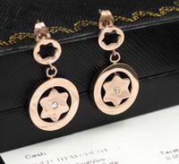 Wholesale 14k Gold Star Stud Earrings - Luxury diamond hollow Earring Italy star shape Stud Brand diamond logo earring Fashion design Forever love Women wedding crystal stud AU750