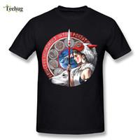 Wholesale japanese princess anime - Princess Mononoke Man's T Shirt Brand Design Japanese Anime Homme Tee Shirt Casual Camiseta