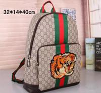 Wholesale Man Satchel Backpack - Fashion Designer backpack 2018 New G Embroidery Tiger head men & women backpack luxury brand Fashion Bags handbag