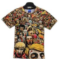spandex camiseta de los hombres al por mayor-Camiseta Nuevo The Walking Dead Men Camisetas Walker Skull Zombies de Alta Calidad de Cuello Redondo Camisetas de Manga Corta de Verano