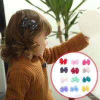 Wholesale diamond hairpin hair clip - 12 colors Baby Barrettes hair clips Diamond insert Kids Large flower Clips for Girls Grosgrain Hair Accessories Hairpins KFJ207