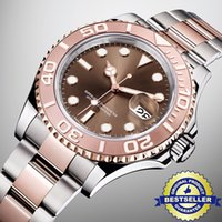 Wholesale Super Gold Glasses - Super Quality Luxury brand Mens Watch 18K Rose gold Bezel Stainless Steel Strap Automatic Movement Watches Sapphire Glass Wristwatches
