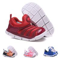 dinamo serbest toptan satış-Nike air Dynamo Free (TD) Çocuk Spor Ayakkabı Modelleri Caterpillar Çocuk Ayakkabı Moda kaymaz Erkek ve Kız Hollow Casual Ayakkabı