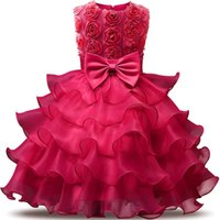 Wholesale red pink wedding dress for sale - Flower Girl Dress For Wedding Baby Girl Years Birthday Outfits Children s Girls Dresses Girl Kids Party Prom Ball Gown