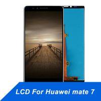 huawei mate7 telefonu toptan satış-Huawei Mate 7 için cep Telefonu Dokunmatik Panel LCD Ekran Onarım Dokunmatik Ekran Digitizer Meclisi Ekran 6inch huawei mate7 için ücretsiz kargo