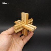 yapboz luban toptan satış-Yetişkinler Için eğitici Bambu Luban Kilit Oyuncak Stil 3D Bulmaca Oyunu Kong Ming Kilit Eğitici Oyuncaklar Interaktif Oyun