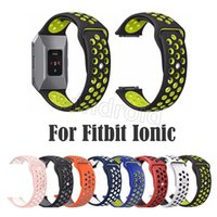 Wholesale smallest smart watch online – Cheapest Sport NK Silicone More Hole Straps Bands For Fitbit Ionic Strap Band large small size Bracelet VS Fitbit Alta Blaze Charge Flex