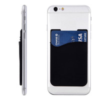 Wholesale smart card wallet for sale - Group buy 2018 High quality adhesive silicone smart wallet cell phone credit card holder adhesive mobile gift card holder