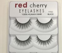Wholesale Big False Eye Lashes - 2018 Red Cherry False eyelashes 5 pairs pack 8 Styles Natural Long Professional makeup Big eyes High Quality