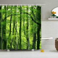 Wholesale modern pattern curtains - With 12 Hooks 1 Waterproof Fabric Colorful Tree Pattern Bathroom Shower Curtain Hot Sale