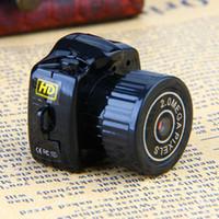 grabadores mini llavero al por mayor-ET Y2000 Mini Kit de Cámara Videocámara Digital Micro DV DVR Grabador de Video HD Cámara Web con Pulgar Pequeño con Llavero Cámaras de Leva