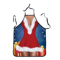 смешные рождественские фартуки оптовых-Christmas Tree Kitchen Aprons for Woman Xmas Decoration personality funny novelty creative couple party party emotional gifts