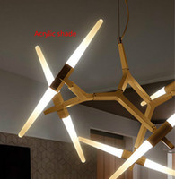 Wholesale Pendant Lights Design - Modern Branch Chandeliers Modern Light Fixture for Dining Living Room Pendant Lights Freely Design Glass Shade
